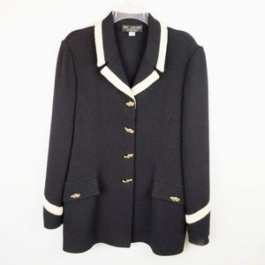 ST. JOHN COLLECTION Black Santana Knit Blazer